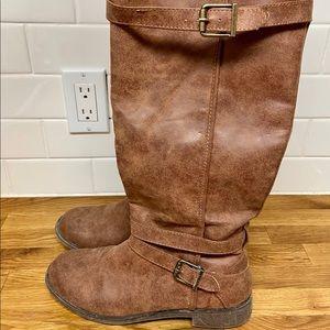 Knee high brown boots women's 9